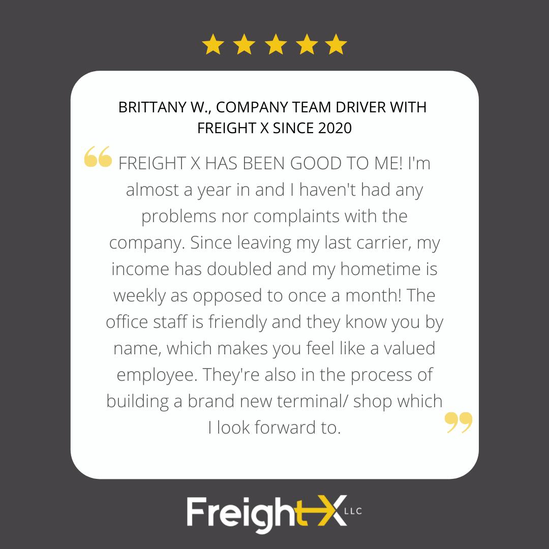 Brittany Team Driver Testimonial