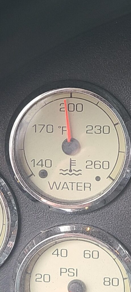 Coolant gauge going up